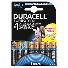 Батарейка алкалиновая Duracell ААА набор 8 шт LR03-8BL TURBO