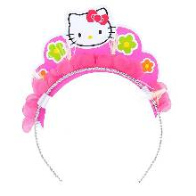 Ободок Hello Kitty. Цветы