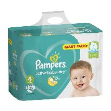 Подгузники Pampers Active Baby Maxi 7–14 кг 90 шт
