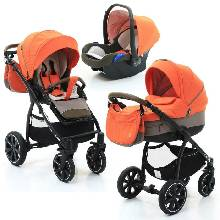 Коляска 3 в 1 NOORDI Sole Sport Orange Red 862 партия