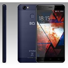Сотовый телефон BQ S-5521 Strike Power Max Blue Brushed 55 IPS 1280*7208Gb1Gb8Mp+8Mp