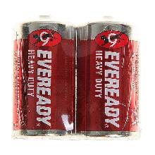 Солевая батарейка Energizer Eveready Heavy Duty R14 спайка 2 шт.
