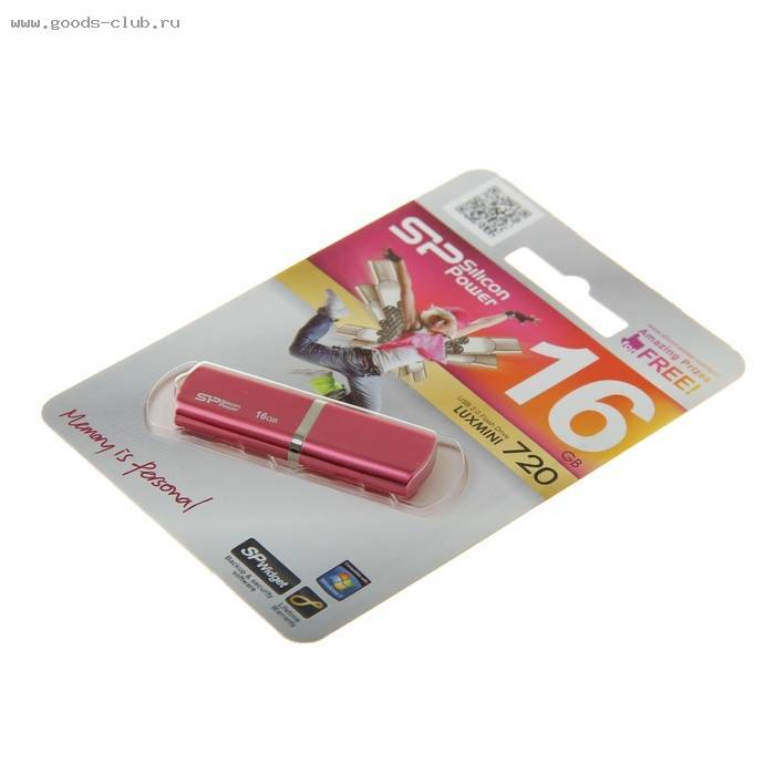 USB-флешка Silicon Power 16Gb Luxmini 720 USB 2.0 розовый